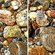 River Rocks 15 In Stereo Art Print