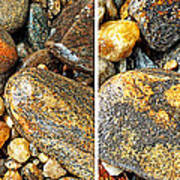 River Rocks 16 In Stereo Art Print