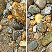 River Rocks 17 In Stereo Art Print