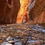 River Rocks In The Narrows Art Print