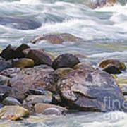 River Rocks Art Print