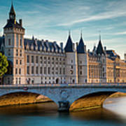 River Seine With Conciergerie Art Print