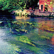 River Sile In Treviso Italy Art Print