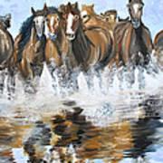 River Stampede Art Print