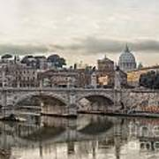 River Tiber In Rome Art Print