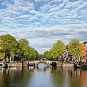 River View Of Amsterdam In The Netherlands Art Print