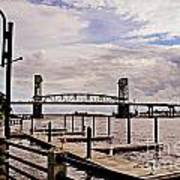River Walk Wilmington Bridge Art Print