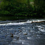 River Wye Waterfall - In Peak District - England Art Print