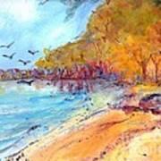 Riverbeach Art Print