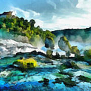 Riverscape Art Print by Ayse Deniz