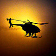 Riverside Ca Pd Air Support Art Print