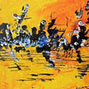 Riverside Sunset Art Print