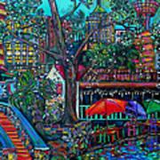 Riverwalk Art Print by Patti Schermerhorn