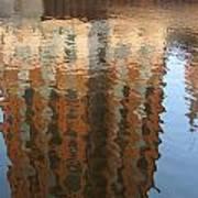 Riverwalk Reflection Art Print