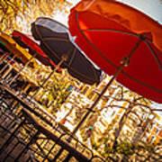 Riverwalk Umbrellas Art Print