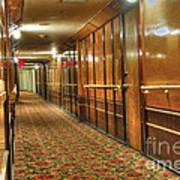 Rms Queen Mary Passenger Hallway Passageway  Art Print