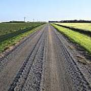 Road Across North Dakota Prairie Art Print