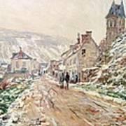 Road In Vetheuil In Winter Print by Claude Monet
