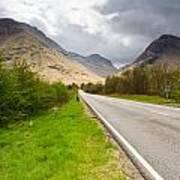 Road Into Glen Coe Art Print