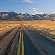 Road Through Desert Art Print