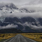 Road To Mt Cook Art Print