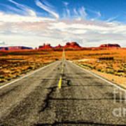 Road To Navajo Art Print