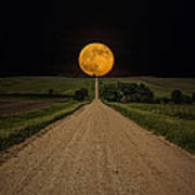Road To Nowhere - Supermoon Art Print