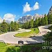 road to Pordoi pass Art Print