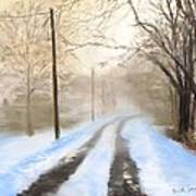 Road To The Ice House Art Print