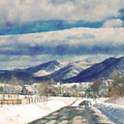 Road To The Mountains Art Print by Kathy Jennings