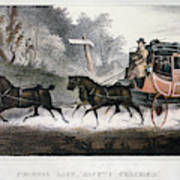 Road Travel/stagecoach Art Print