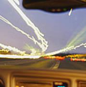Road Viewed From A Car, Atlanta, Georgia Art Print