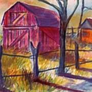 Roadside Barn Art Print