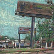 Roadside Billboards Art Print by Donald Maier