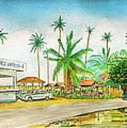 Roadside Food Stands Puerto Rico Art Print