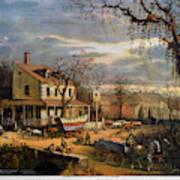 Roadside Inn, 1872 Art Print