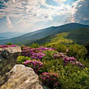 Roan Mountain From Appalachian Trail Near Jane's Bald Art Print
