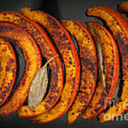 Roasted Pumpkin Slices Art Print