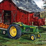 Rob Smith's Tractor Art Print by Lee Piper