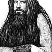Rob Zombie Art Drawing Sketch Portrait Art Print