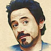 Robert Downey Jr. Print by Marina Likholat