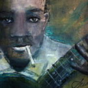 Robert Johnson Crossroad Blues Art Print