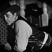 Robert Mitchum Leaning On Poker Table Young Billy Young Set Old Tucson Arizona 1969-2008 Art Print