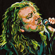 Robert Plant 40 Years Later Like Never Been Gone Art Print by Tanya Filichkin