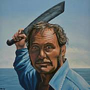 Robert Shaw in Jaws Art Print