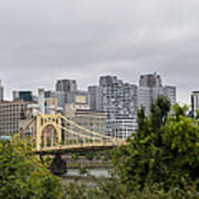 Roberto Clemente Bridge Pittsburgh Pa Art Print