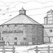 Robillard Flats Round Barn Art Print