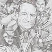 Robin Williams A Lifetime Of Laughter Art Print by Beverly Marshall