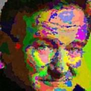 Robin Williams - Abstract Art Print