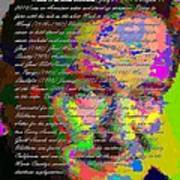 Robin Williams - Abstract With Text Art Print